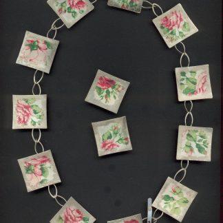 Zilver rozen collier