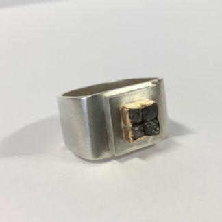 Zilveren diamant ring