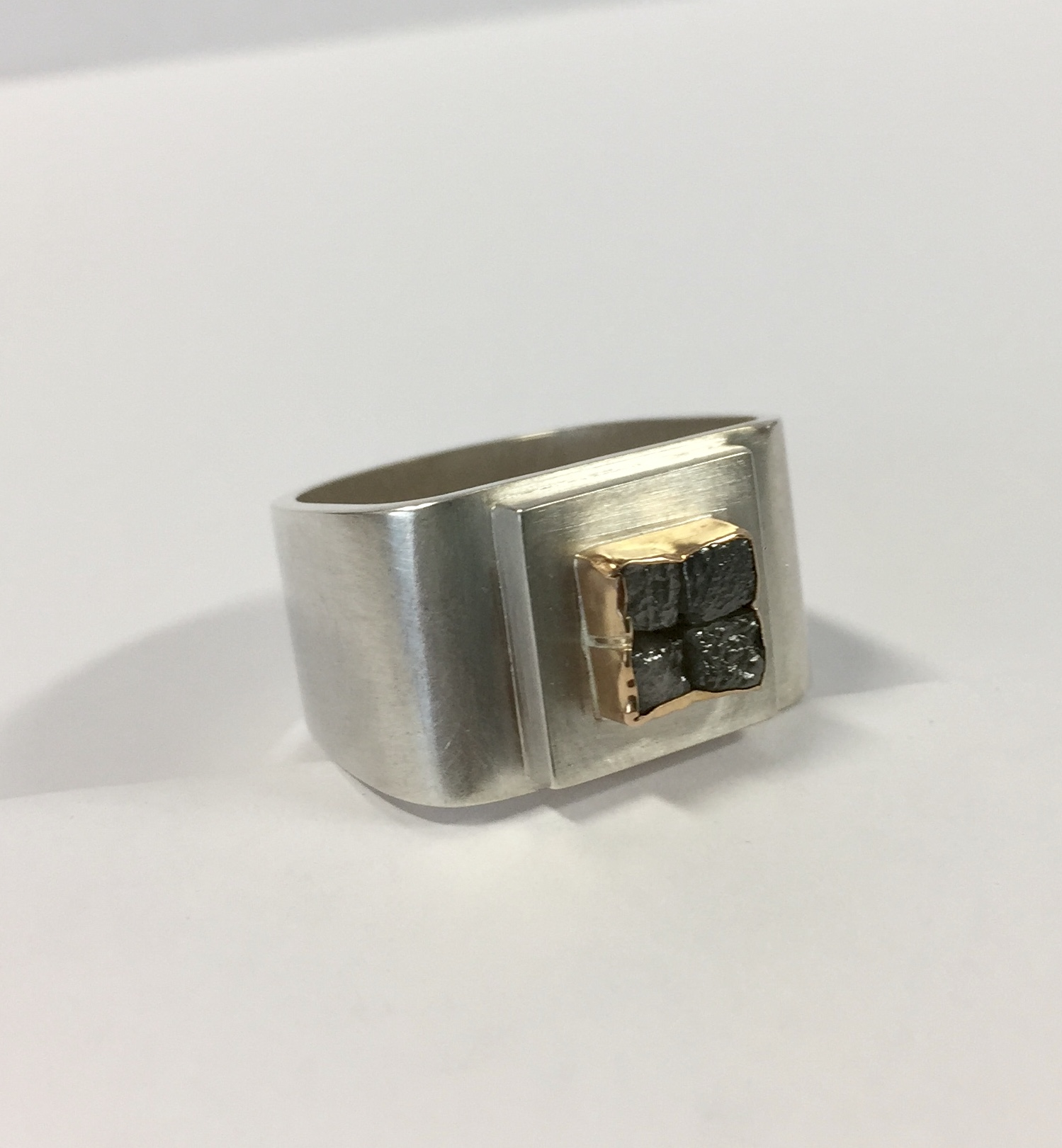 Zilveren diamant ring