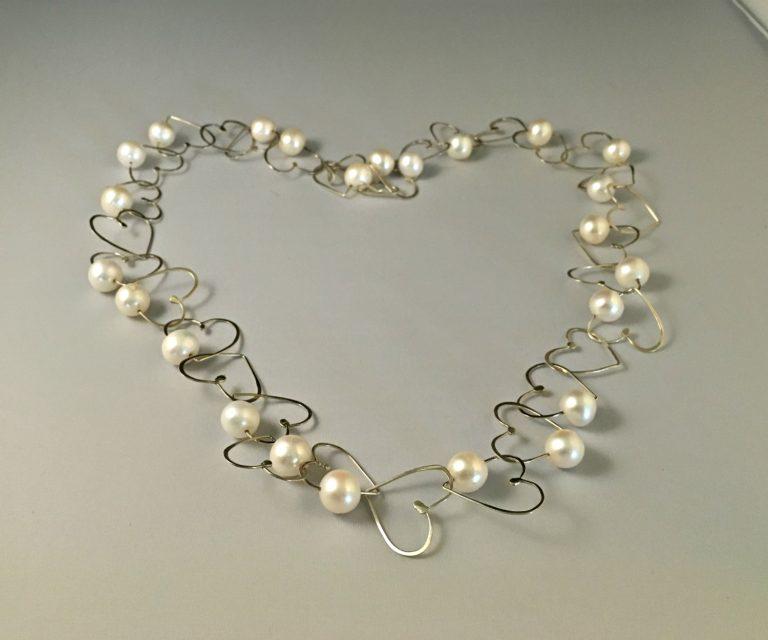 Foto van Valentijn cadeau zilver hart collier.