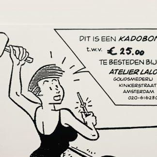 Foto van een kadobon van Laloli sieraden met een bedrag van 25 euro